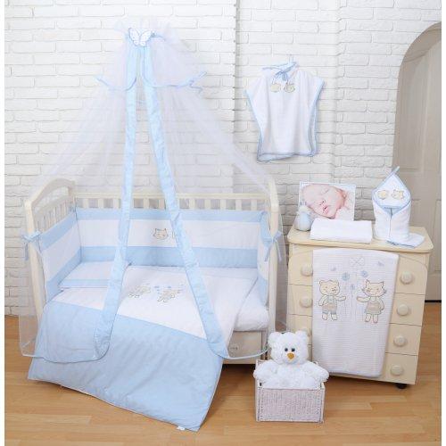 Постельное белье для новорожденного Veres Fairy Tale blue 7 единиц