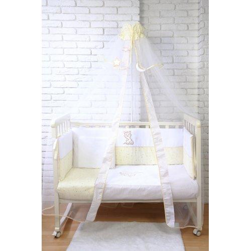 Детский постельный комплект Veres Little Cat beige 7 единиц