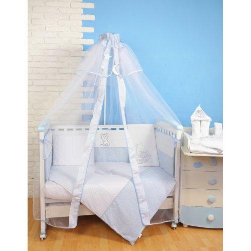 Постельное белье для новорожденного Veres Little Cat blue 7 единиц