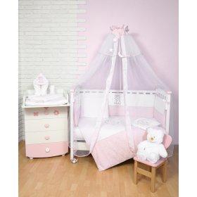 Постельное белье для новорожденного Veres Little Cat pink 7 единиц