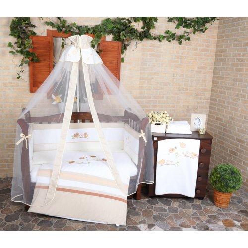 Постельное белье для новорожденного Veres Spring Birdies beige 7 единиц