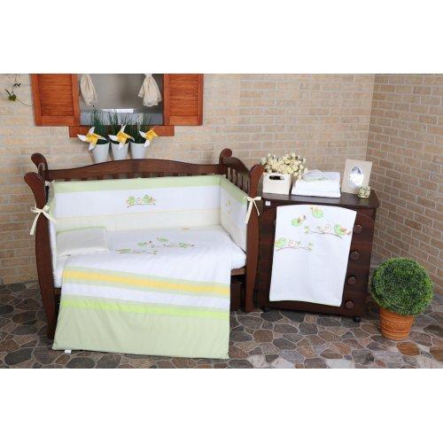 Постельное белье для новорожденного Veres Spring Birdies green 6 единиц