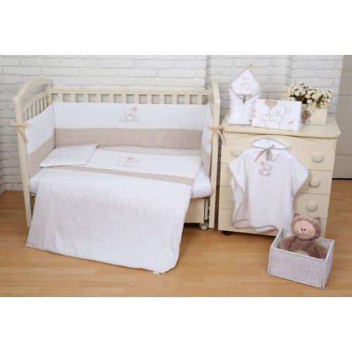 Постельное белье для новорожденного Veres Sweet Bear 6 единиц