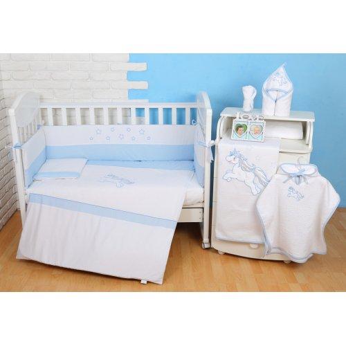 Постельное белье для новорожденного Veres Unicorn blue 6 единиц