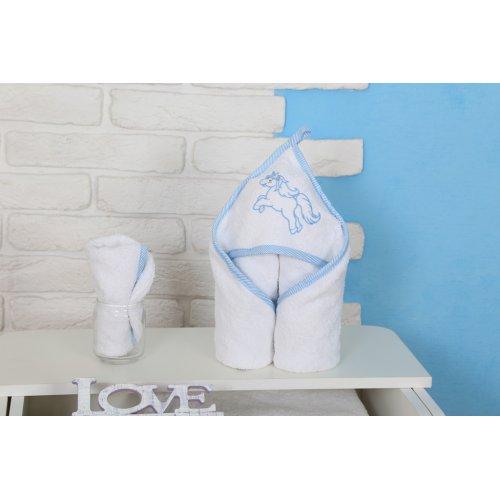 Полотенце Veres Unicorn голубой