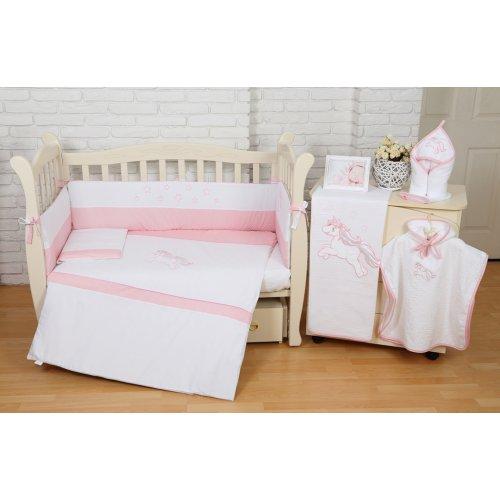 Постельное белье для новорожденного Veres Unicorn pink 6 единиц
