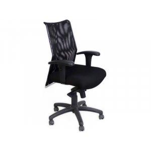 Крісло Спайдер 3213 спинка сітка/сидіння тканина чорний