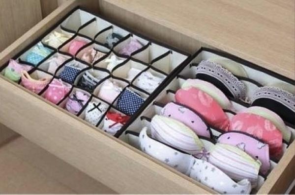 Ящики для белья в шкафу
