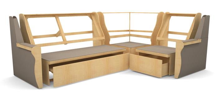 Деревянный каркас для углового дивана