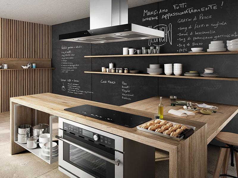 кухня в чорних тонах