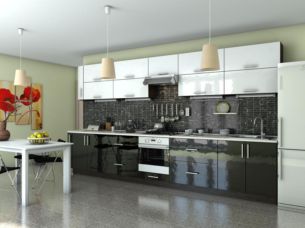 Кухня Гламур білий глянець
