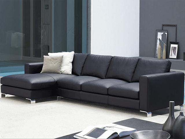 Кожаный угловой диван Delon