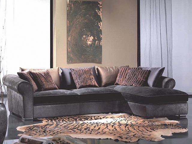 Угловой диван Рафаэль из замши