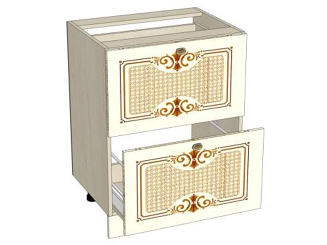 Шкафчик с ящиками кухонного гарнитура Ассоль