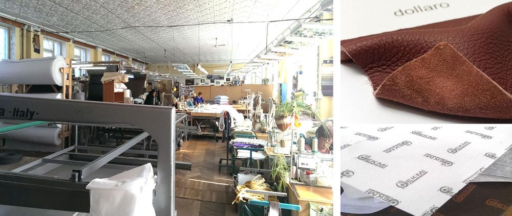Текстильный цех фабрики Экми-мебель
