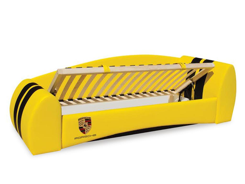 Мягкая кровать Форсаж - это 3 в 1: диван, кровать с ортопедической сеткой и бельевой ящик