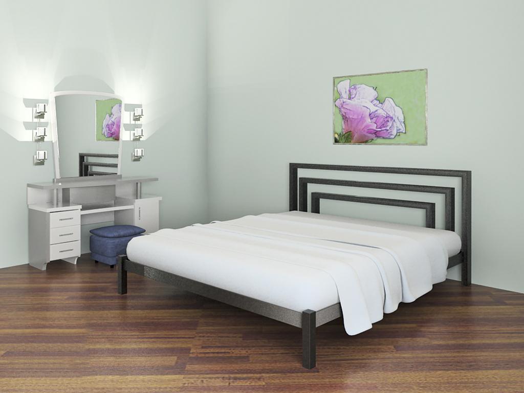 Металлическая кровать фото