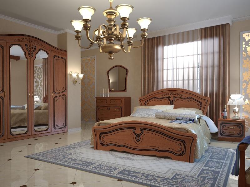 Гардеробный шкаф с дверцами в спальне Альба