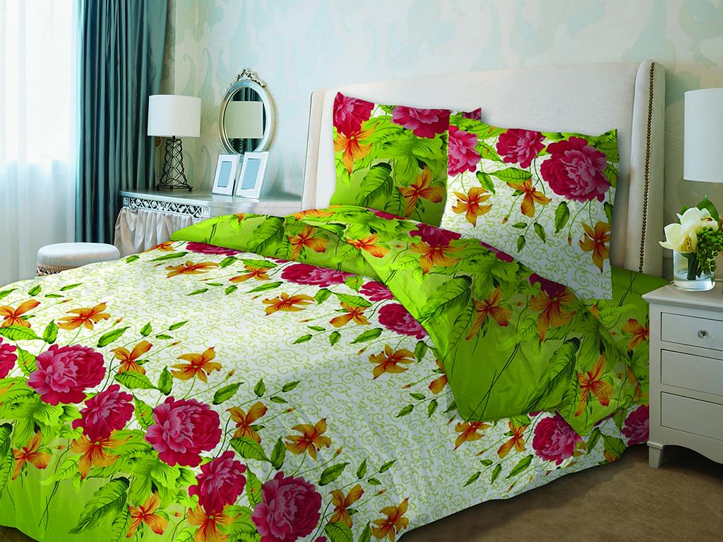 Постельный комплект на полуторную кровать Пионы