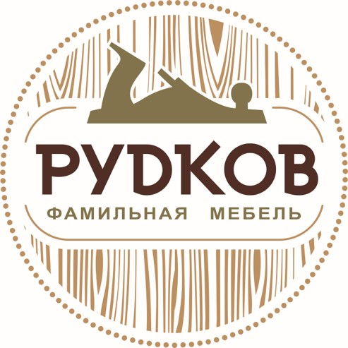 Логотип производителя мебели Рудков