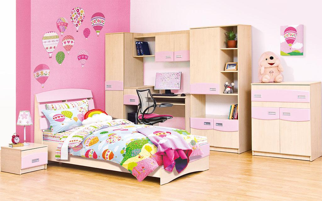 Детская комната для девочки Терри - розовая