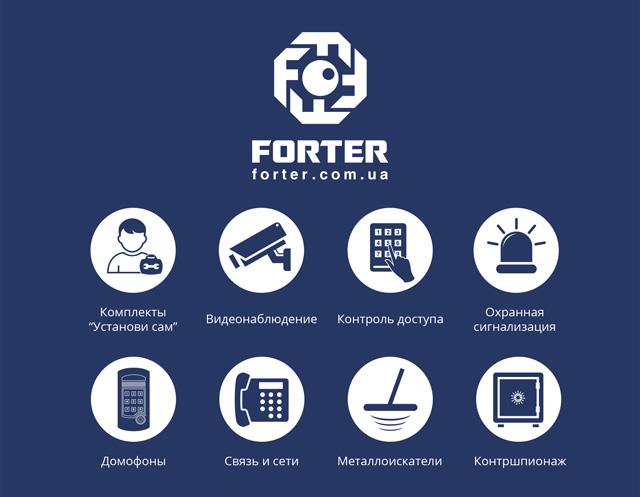 Ассортимент сайта Фортер