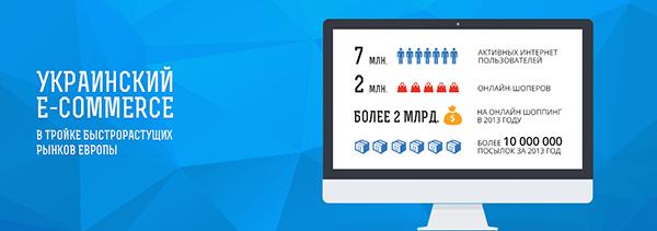 Объем он-лайн рынка в Украинев 2013 году