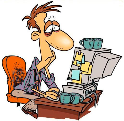 Усталость от сидения за компьютером