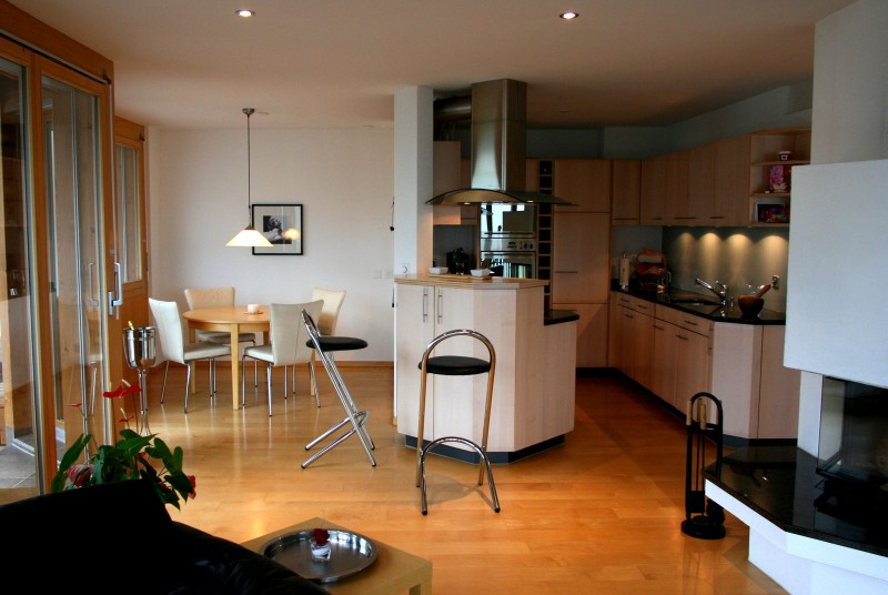 Освещение на кухне и в гостиной