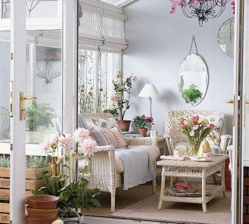 Мебель в стиле Прованс - светлый цветочные расцвестки