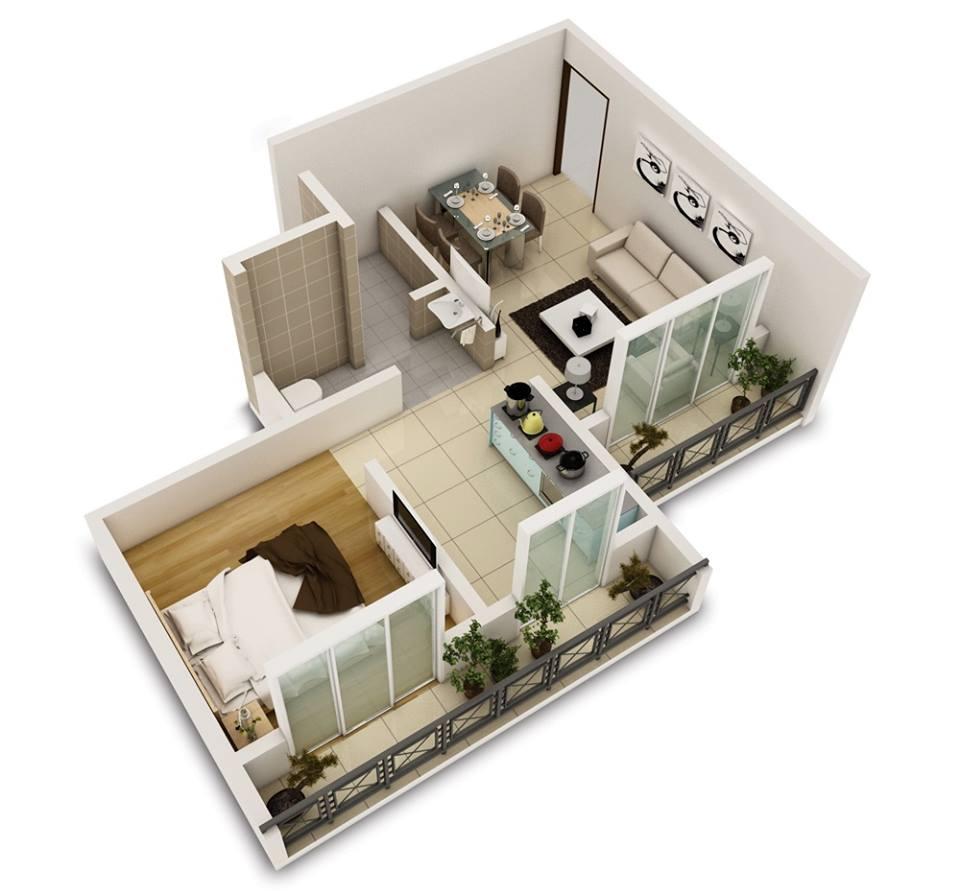 Планировка однокомнатной квартиры без прихожей