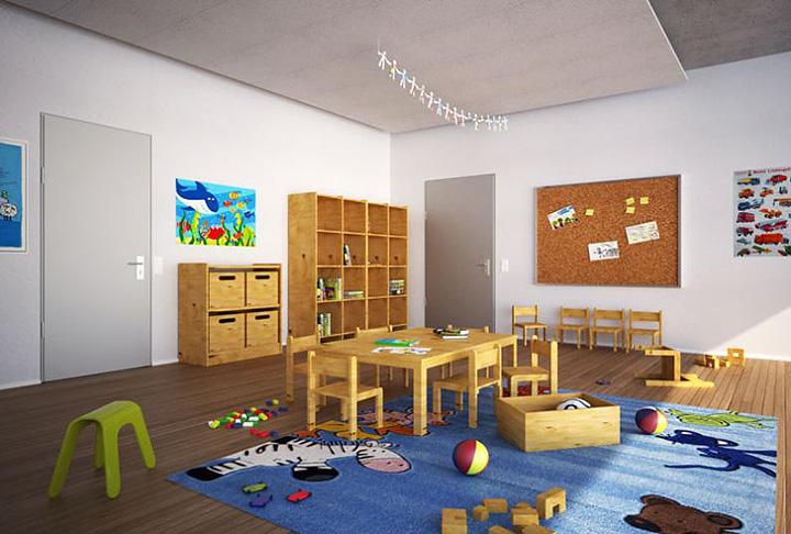 Мебель для детского сада, изготовленная из букового щита и фанеры