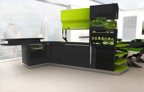 Современная кухня hi-tech