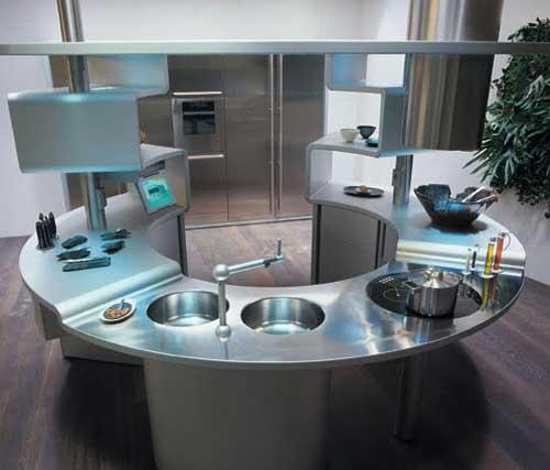 Кухня в стиле хай-тех