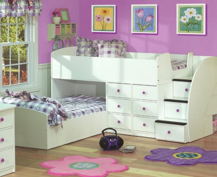 Угловые кровати для двух детей фото