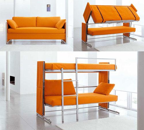 Диван-трансформер в двухъярусную кровать