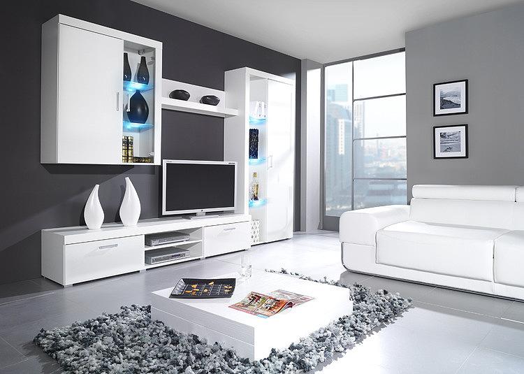 Белые стенки для гостиной фото