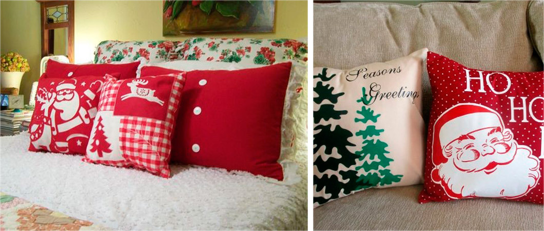 Подушки на Новый год и Рождество