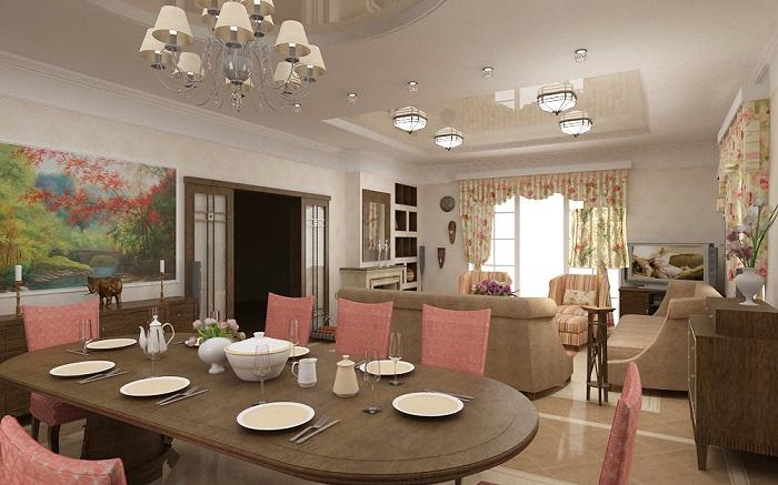 Удачный подбор цветовой гаммы для гостиной