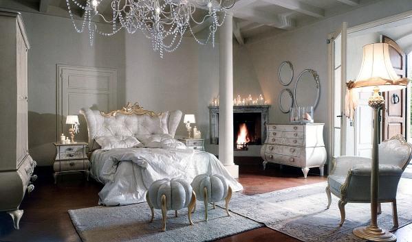 Роскошь и шарм спальни в стиле гламур