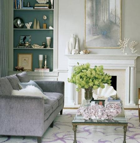 Диван цвета Lilac Gray Panton