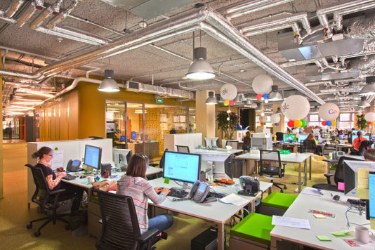 Open space в компании Google