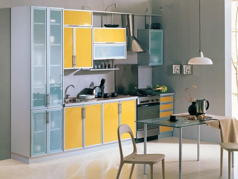 Комбинированные кухонные фасады