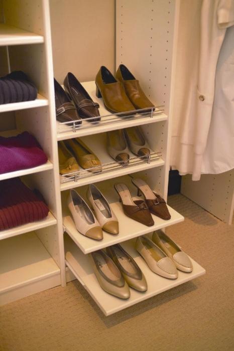 Открытые полочки для обуви