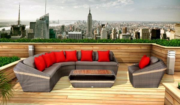 Мебель из ротанга для отдыха