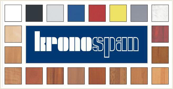 Цветовые вариации ДСП производителя Кроноспан