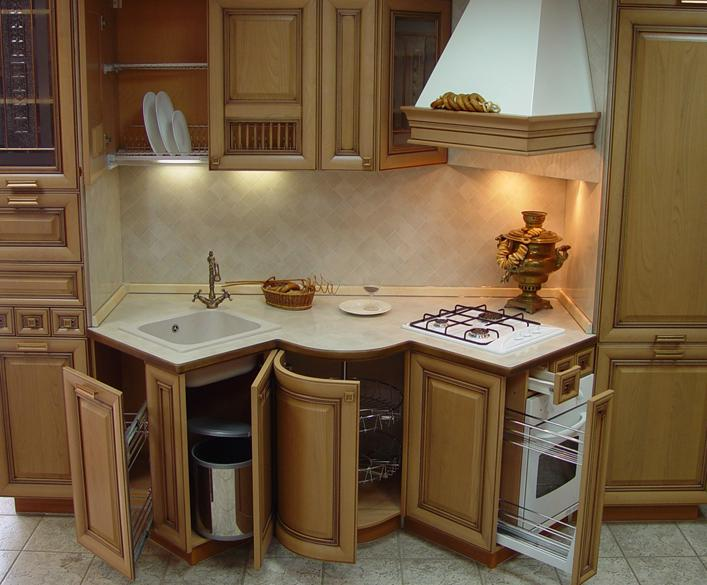 Рациональное использование внутреннего пространства кухни
