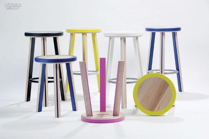 Барные стулья разных цветов