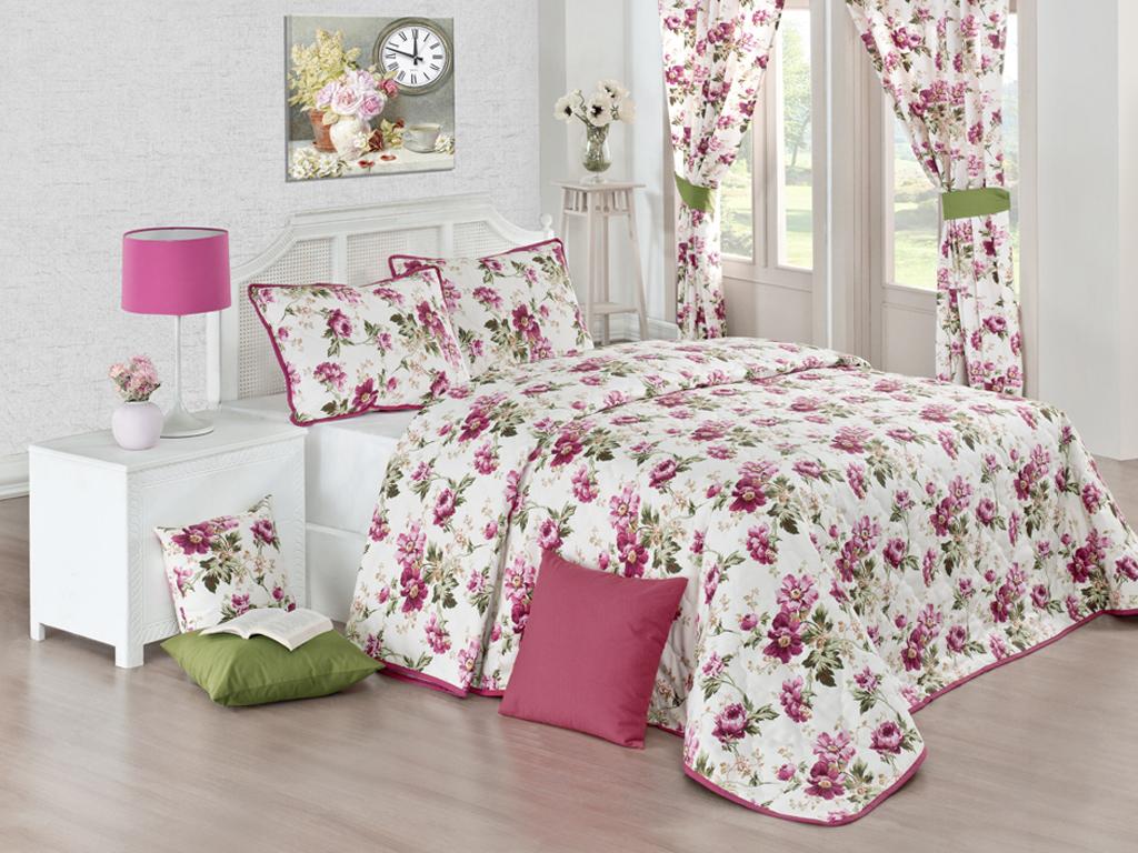 Декор при помощи текстиля для спальни в стиле Прованс