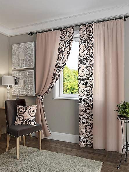 Декор спальни текстилем геометрическим принтом